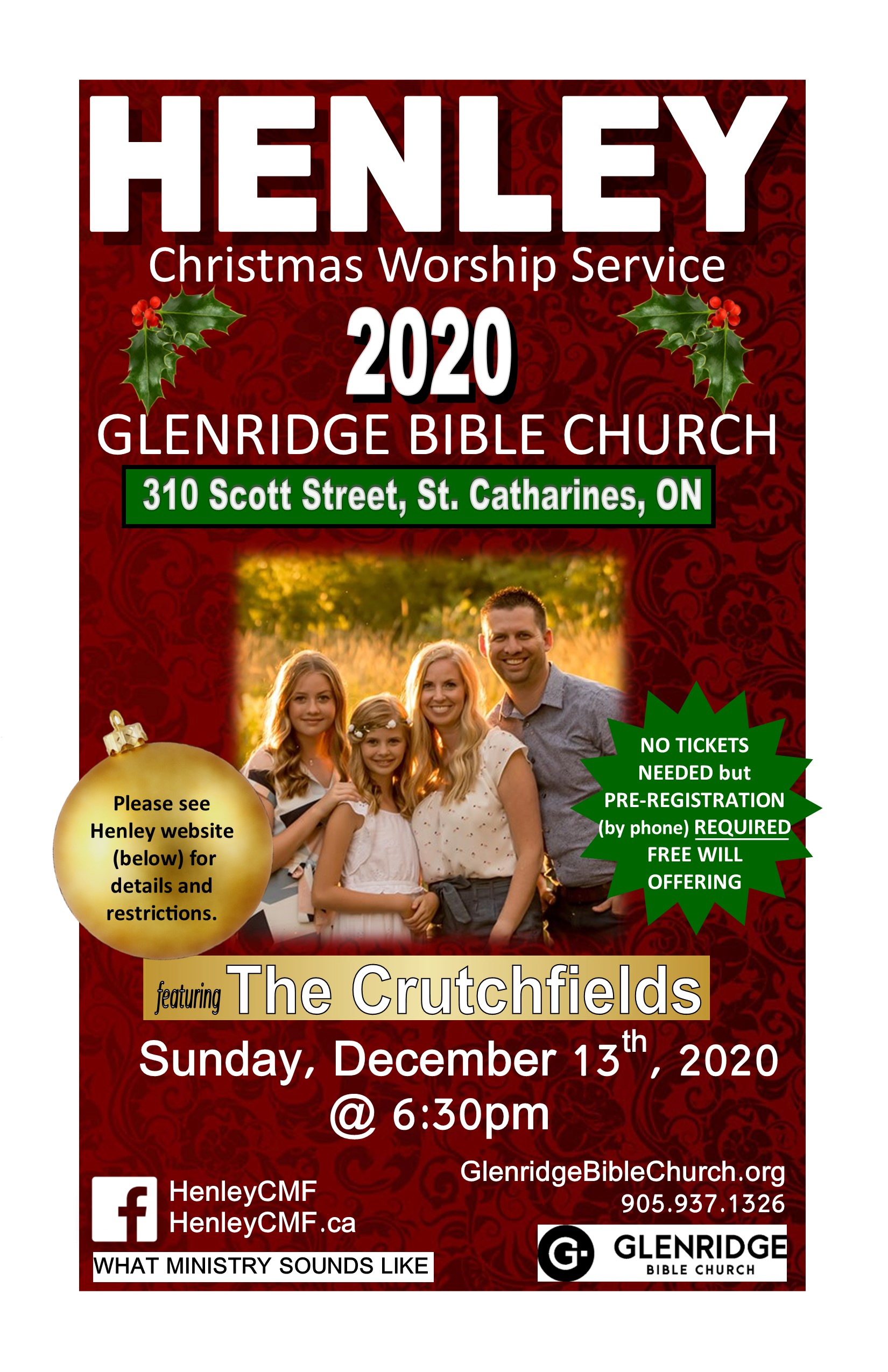 Henley Christmas Worship Service featuring the Crutchfield Family